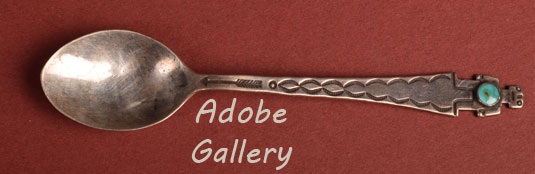 Close up view of one of the spoons.