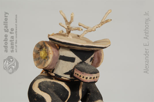 Close up view of this Deer Kachina Doll.