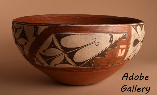 Alternate side view of this pottery dough bowl.
