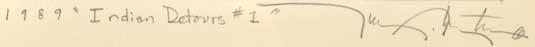 Tony Abeyta (1965 ) signature