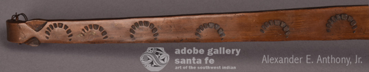 Close up view of the handle decorations.