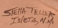 Artist Signature - Stella Teller, Isleta Pueblo Potter