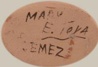 Artist Signature - Mary E. Toya (1934-1990), Jemez Pueblo Potter
