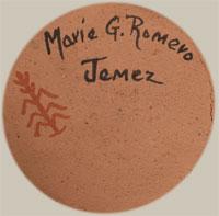 Artist Signature - Marie Gachupin Romero, Jemez Pueblo Potter