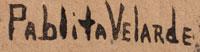 Artist Signature - Pablita Velarde (1918-2006) Tse Tsan - Golden Dawn