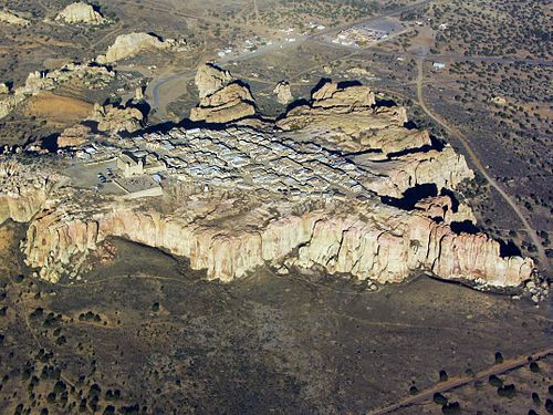Photo of Acoma pueblo from sky - Source: Wikipedia