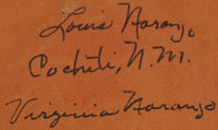 Signature of artists: Louis and Virginia Naranjo