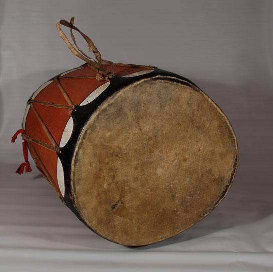 Large Rust Color Cochiti Pueblo Drum Other Fine