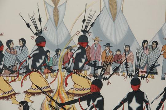 Fine Art Native American Paintings Mescalero Apache
