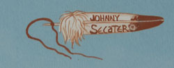 Johnny Secatero (1945 – 2010) signature