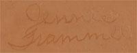 Jennie Trammel (1929 -2010) signature