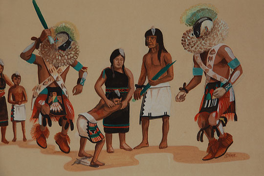 hopi tewa initiation ceremony fine painting by raymond