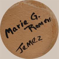Marie G. Romero (1927-2007) signature