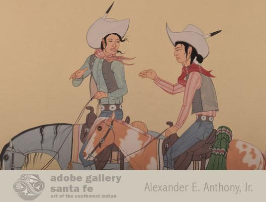 Close up view of the Navajo Cowboys.