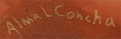 Alma Concha Southwest Indian Pottery Contemporary Jemez Pueblo signature