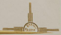 Rafael Medina Teeyacheena Fine Art Native American Paintings Painting Zia Pueblo signature