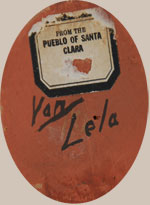 Lela and Van Gutierrez Southwest Indian Pottery Contemporary Santa Clara Pueblo signature
