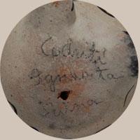 Ignacita Suina Arquero Southwest Indian Pottery Figurines Santa Clara Pueblo signature