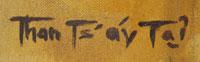 Tommy Edward Montoya (1952-2009) Than Ts'áy Tas - signature