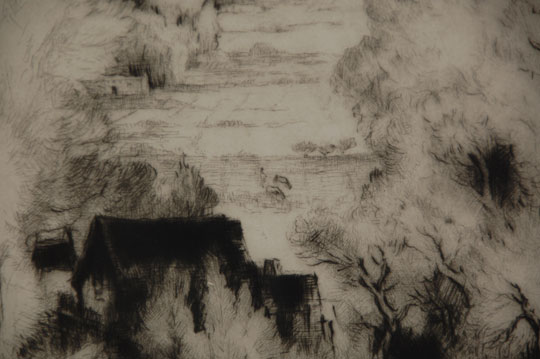 Gene Kloss Etching Entitled Hondo Valley Westward Fine Art