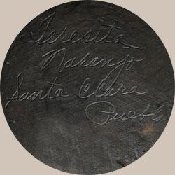 Teresita Tafoya Naranjo Apple Blossom Southwest Indian Pottery Contemporary Hopi Pueblo signature