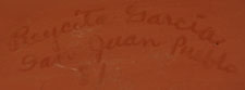 Artist Signature - Reycita Garcia (1931 - ) San Juan Pueblo Potter