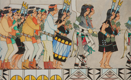 Fine Art Native American Paintings Native American Artwork San Ildefonso Pueblo J D