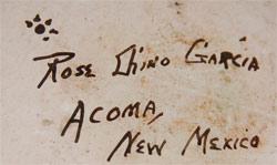 Rose Chino Garcia (1928-present) signature