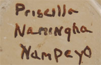Priscilla Namingha Nampeyo (1924-2008) - siganture