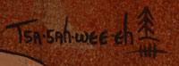 Signature of Helen Hardin (1943-1984) Tsa-Sah-Wee-Eh - Little Standing Spruce