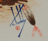 Calvin Toddy (b.1955) signature