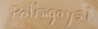 Elizabeth White (1892-1990) Polingaysi Qöyawayma - signature