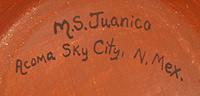 Marie Juanico (1937-present) signature