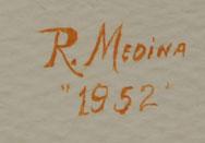 Signature of Rafael Medina (1929-1998) Teeyacheena