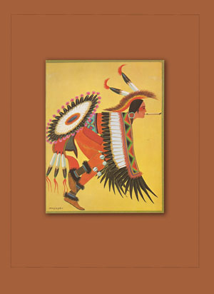 """Frontispiece - """"Eagle Dancer"""" by Stephen Mopope"""
