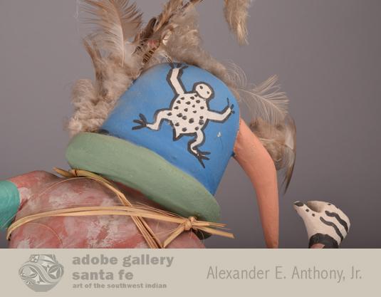 Close up of the symbol on the back of the Katsina's head.