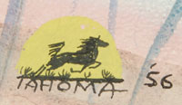 Signature of Quincy Tahoma (1917-1956) Water Edge