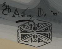 Signature of Tony Da (1940-2008) - Anthony Edward Da