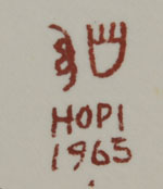 Signature of Oswald Fredericks (1905-1996) Kucha Honowah - White Bear