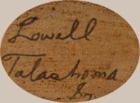 Lowell Talashoma, Sr. (1950-2003) signature