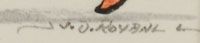 Signature of José Disiderio (J.D.) Roybal [1922-1978] Oquwa - Rain God