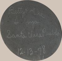 Signature of Betty and Lee Tafoya of Santa Clara Pueblo