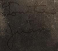 Tonita Martinez Roybal (1892-1945) and Juan Cruz Roybal (1896-1990) signatures