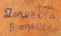 Teresita Chavez Romero (1894-1991) signature