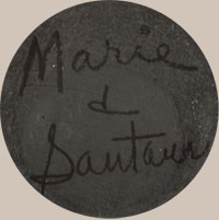 These early pottery were signed Marie & Santana and this signature continued from 1943 until 1956.