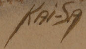 Signature of Percy Tsisete Sandy (1918-1974) Kai-Sa (Red Moon)