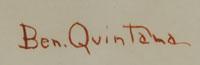 Signature of Ben Quintana (1923-1944) Ha-a-tee