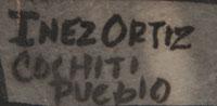 Artist signature: Juanita Inez Ortiz (1960- ) Mapuwana
