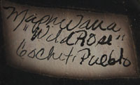 Artist signature: Juanita Inez Ortiz (1960 - 2008) Mapuwana - Wild Rose