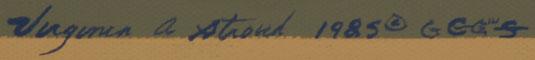 Virginia Stroud (1951 -  ) signature